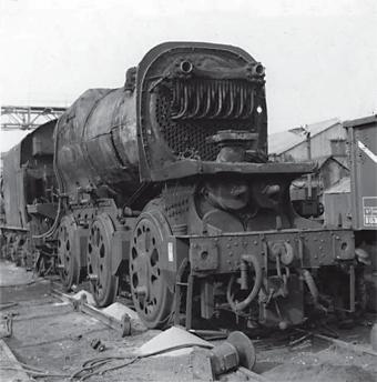 Scrapyard photos generally are so sad . . . Bulleid Q1 0-6-0 No. 33032 being reduced to a pile of slag at Eastleigh Works in March 1964. RM ARCHIVE